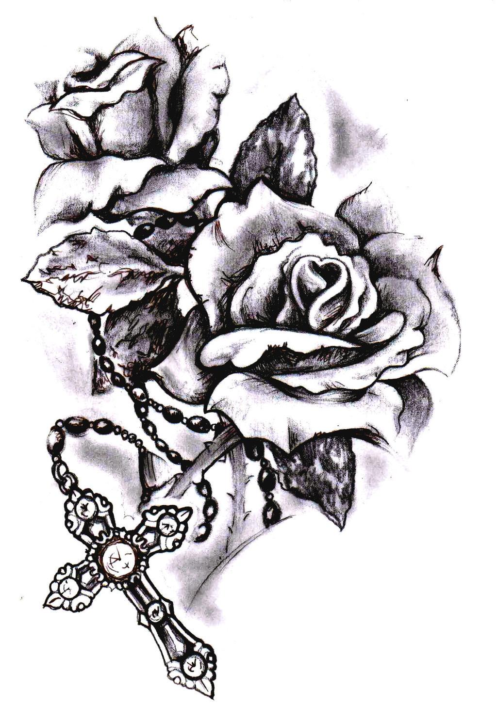 Rose Drawing Tattoo