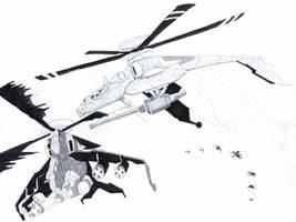 H-32 Dragon sketch by edwardrigaud