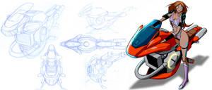DESTINY- hoverbike design by edwardrigaud