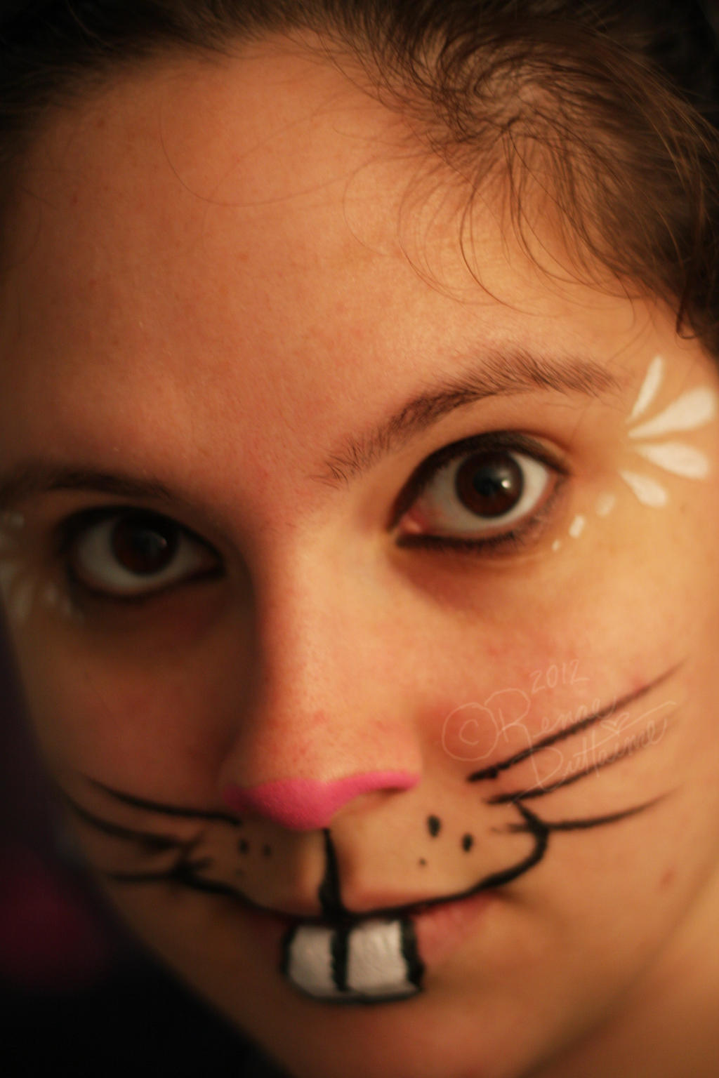 The easter bunny by renduh facepaint on deviantart for Latest face painting designs