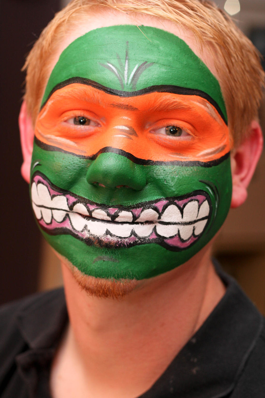 Ninja Turtle - Michaelangelo by renduh-facepaint on DeviantArt