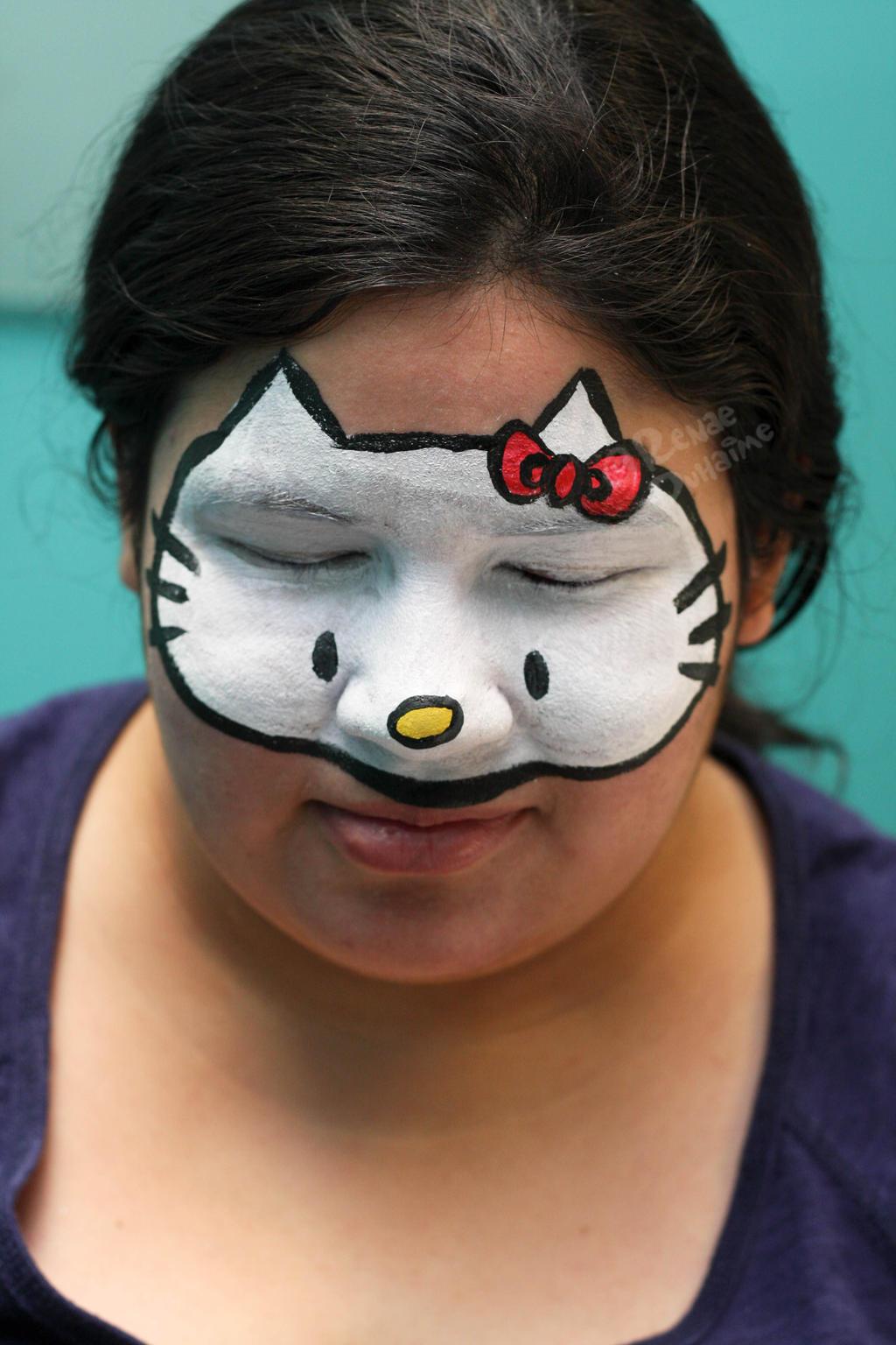 Full Face Hello Kitty By Renduh-facepaint On DeviantArt