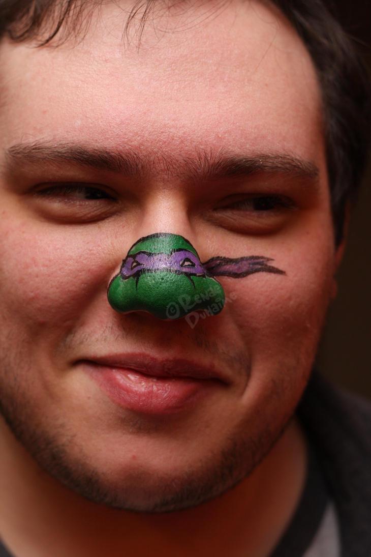 Ninja Turtle Nose Face Paint