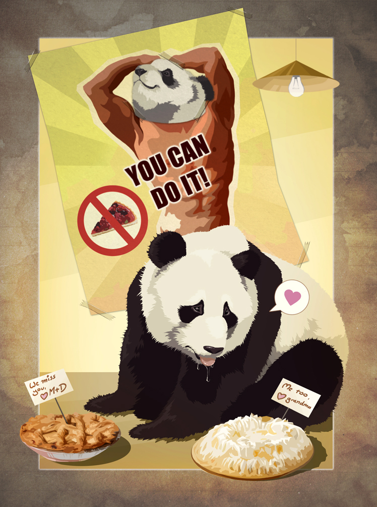 Plans gone  wrong: Diet panda by Shockowaffel