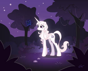 MLP: Amalthea and the blue butterfly by Shockowaffel