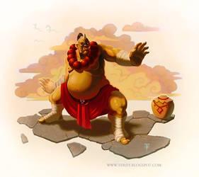 World of Warcraft: Ogre Monk by Shockowaffel