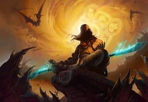 Diablo 3: Monk by Shockowaffel