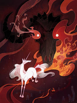 Unicorn and bull editorial illustration