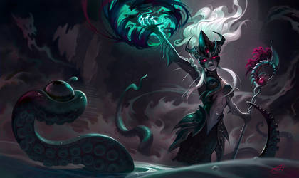 Sea witch Nami splash art by Shockowaffel