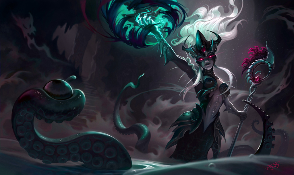 Sea witch Nami splash art by Shockowaffel