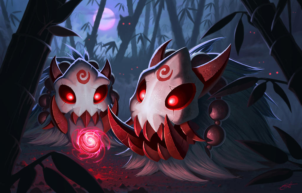 LoL Poro contest: Bloodmoon poro by Shockowaffel on DeviantArt