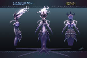 Sea-witch Nami: concept art by Shockowaffel