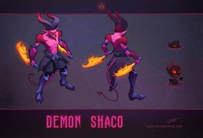 LoL skin concept: Demon Shaco