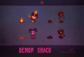 LoL skin concept: Demon Shaco: Box concepts