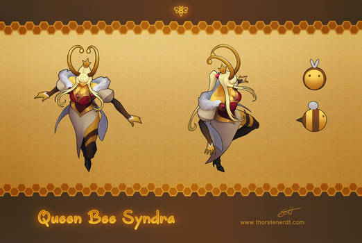 LoL skin concept: Queen Bee Syndra