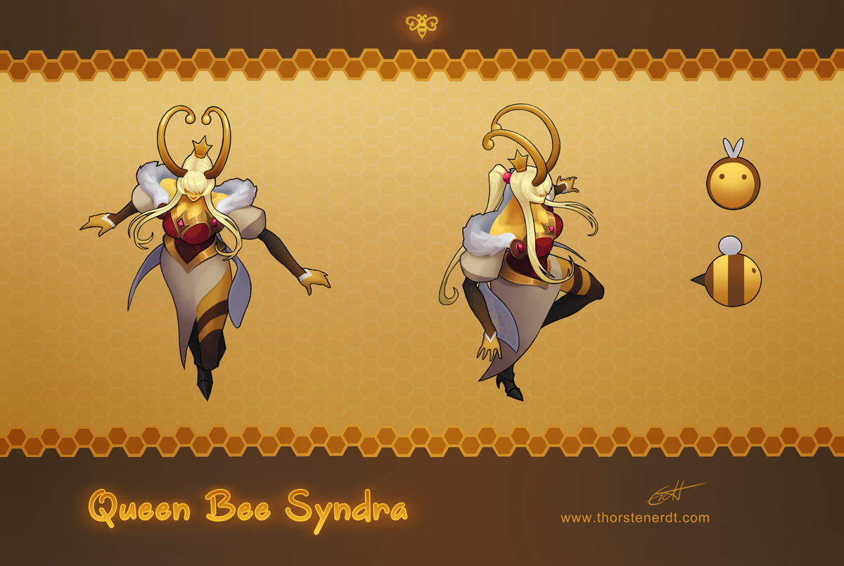 LoL skin concept: Queen Bee Syndra by Shockowaffel