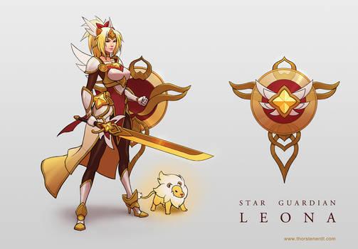 LoL skin concept: Star Guardian Leona
