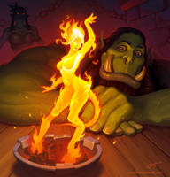 Hearthstone: Brazier of dancing flame
