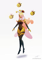 League of Legends: Queenbee Syndra skin concept