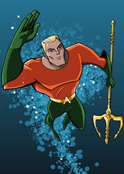 Aquaman DCAU Style by LucianoVecchio