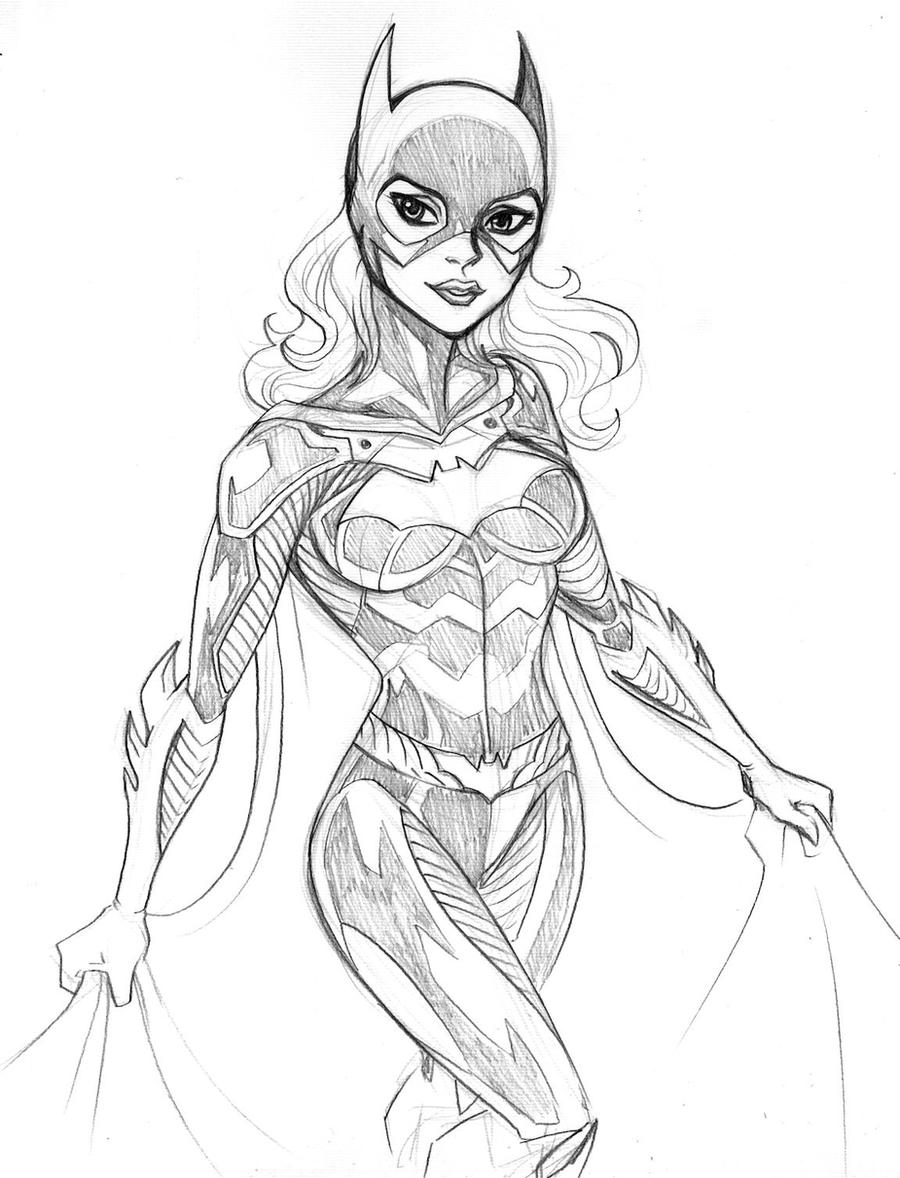 Batgirl sketch by LucianoVecchio