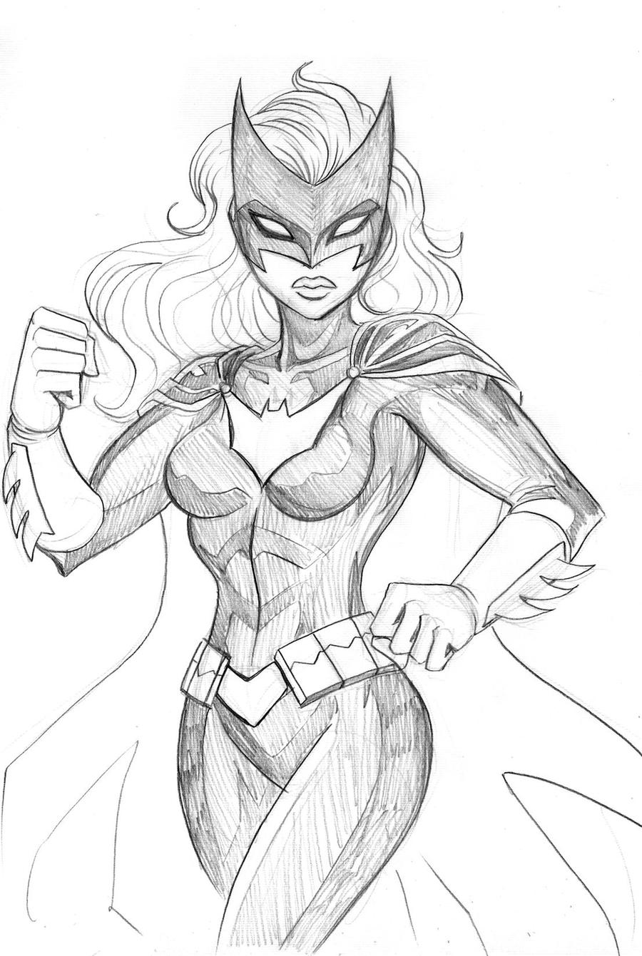 Batwoman sketch by LucianoVecchio