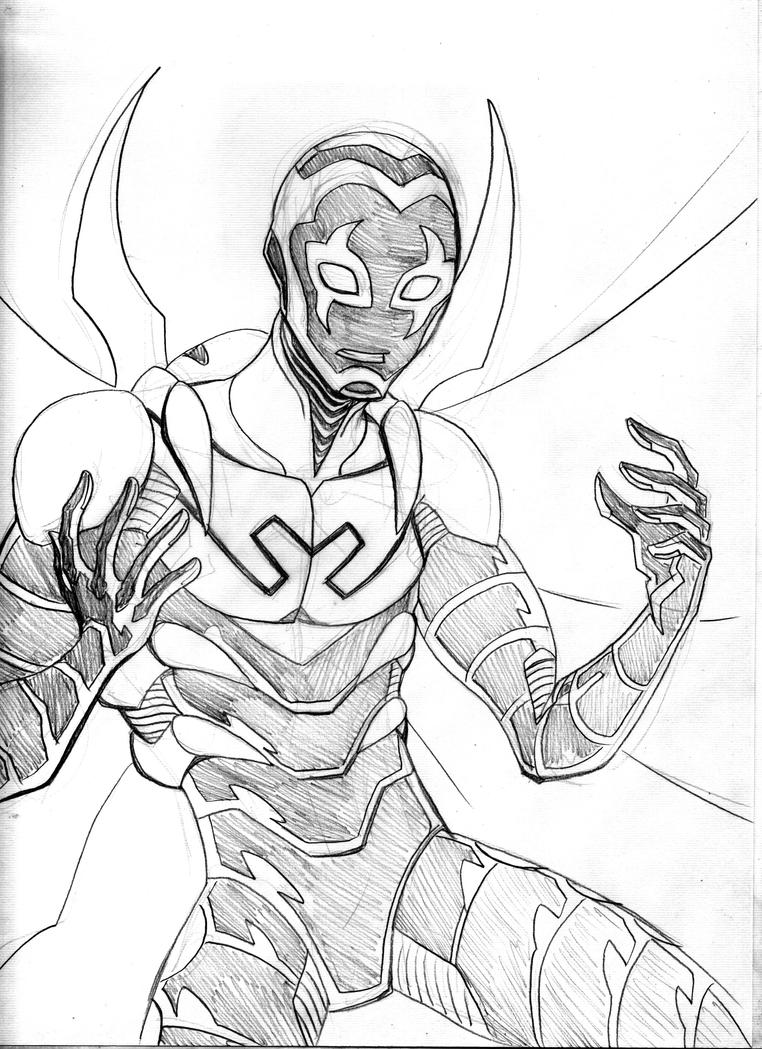 Blue beetle sketch by lucianovecchio on deviantart for Blue beetle coloring pages