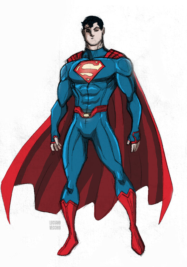 New Superman costume by LucianoVecchio ...  sc 1 st  DeviantArt & New Superman costume by LucianoVecchio on DeviantArt