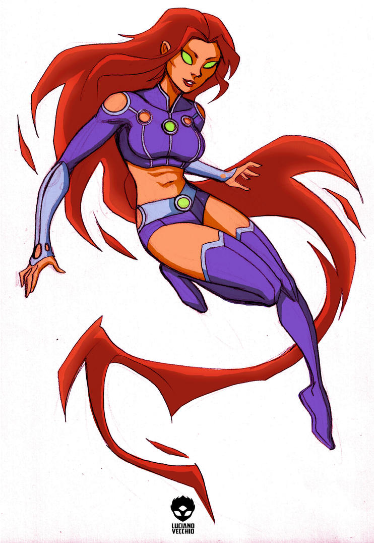 Starfire's new look by LucianoVecchio