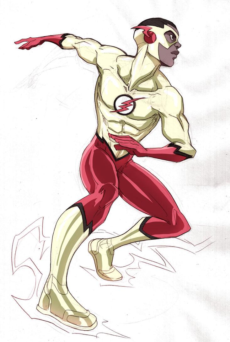 Kid Flash Rebirth by LucianoVecchio