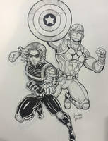 Cap and Bucky NYCC Commission by LucianoVecchio