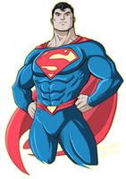 Superman Reborn by LucianoVecchio