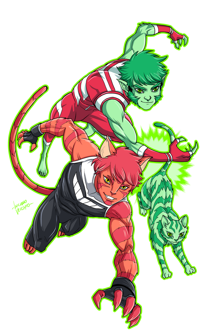 vorpal meets beast boy by lucianovecchio on deviantart