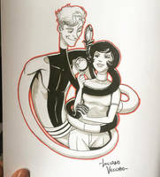 Elongated Man and Sue Dibny Commission by LucianoVecchio