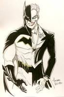 Batman v Joker Commission by LucianoVecchio