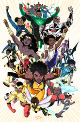 Black Superheroes of the DCU by LucianoVecchio