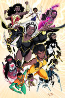 Black Superheroines by LucianoVecchio
