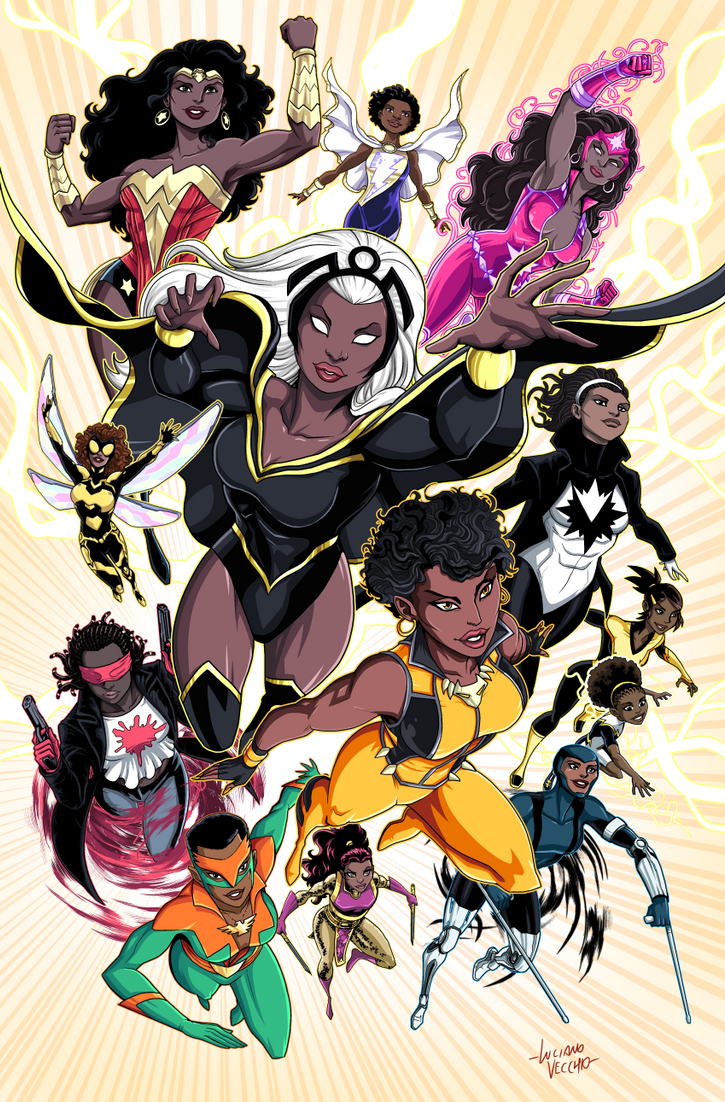 ebony superheroine