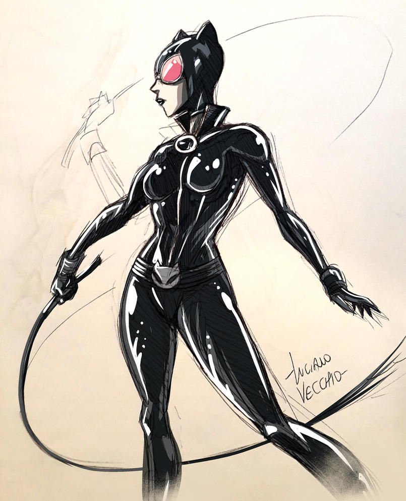 Catwoman sketch by LucianoVecchio