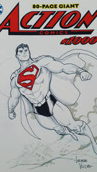 Superman commission sketch at Argentina Comic Con