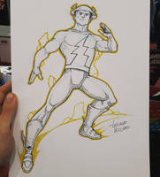 Jay Garrick Flash commission sketch at ArgComicCon by LucianoVecchio