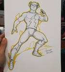 Jay Garrick Flash commission sketch at ArgComicCon