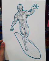 Silver Surfer commission sketch at Argentina Comic