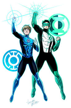 GL Kyle Rayner and BL Terry Berg