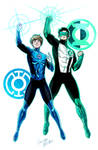 GL Kyle Rayner and BL Terry Berg by LucianoVecchio