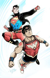 SUPERBOY and WONDER BOY by LucianoVecchio