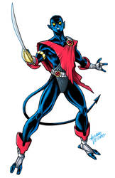 Excalibur Nightcrawler commission by LucianoVecchio