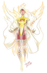Phoenix Five Emma Frost Commission by LucianoVecchio