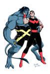 Exiles BEAST and WONDER MAN