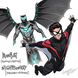 Amalgam Ironbat and Nightmonkey
